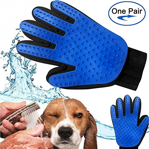 Pet-Grooming-Glove-and-Deshedding-Glove-Brush-Best-for-Dogs-Cats-Long-Short-Fur-Massage-Tool-with-Enhanced-Five-Finger-Design-0