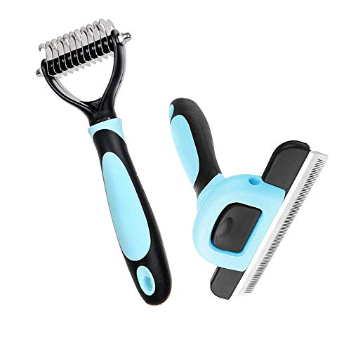 Petbob-Grooming-BrushPet-Cosmetic-Brush-SetAnti-Static-Trimming-Kit-Deshedding-Brush-Dematting-Comb-Dogs-Cats-Hair-Fur-Removal-0