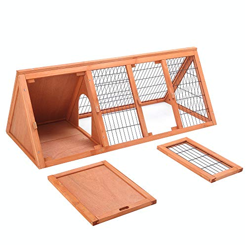 Petpark-Big-47-Triangle-Rabbit-Hutch-Portable-A-Frame-Chicken-Cage-Bunny-House-Chicken-coop-Pet-Cage-Outdoor-for-Small-Animals-0-2