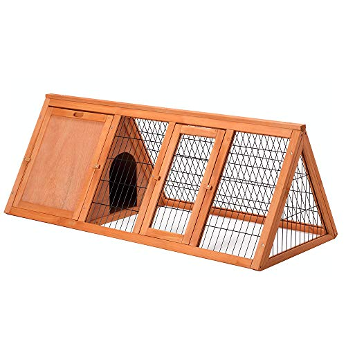 Petpark-Big-47-Triangle-Rabbit-Hutch-Portable-A-Frame-Chicken-Cage-Bunny-House-Chicken-coop-Pet-Cage-Outdoor-for-Small-Animals-0