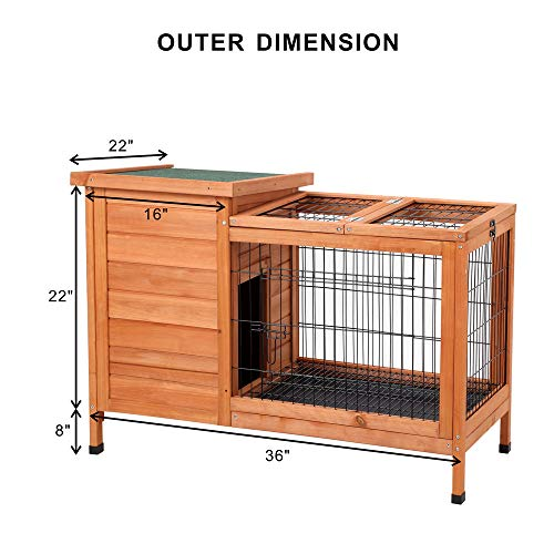 Petpark-Rabbit-HutchWood-Bunny-Cage-House-Rabbit-Cage-Chicken-coop-Pet-Cage-Indoor-for-Small-Animals-0-0
