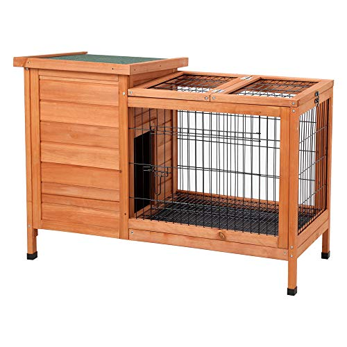 Petpark-Rabbit-HutchWood-Bunny-Cage-House-Rabbit-Cage-Chicken-coop-Pet-Cage-Indoor-for-Small-Animals-0