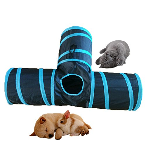 Pevor-Collapsible-3-Way-Cat-Tunnel-Toys-Indoor-Outdoor-Pet-Cats-Training-Toy-House-Toys-Bed-For-Kitten-Rabbit-Puppy-0-1
