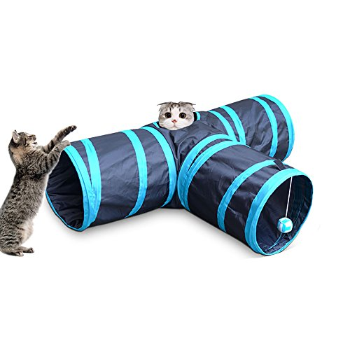 Pevor-Collapsible-3-Way-Cat-Tunnel-Toys-Indoor-Outdoor-Pet-Cats-Training-Toy-House-Toys-Bed-For-Kitten-Rabbit-Puppy-0
