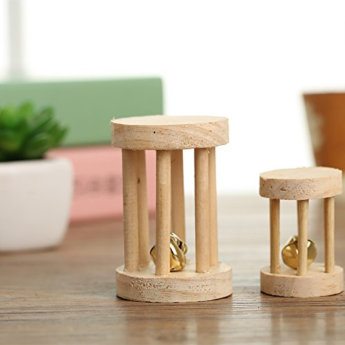 Pevor-Pack-of-5-Hamster-Chew-Toys-Natural-Wooden-Pine-Dumbells-Exercise-Bell-Roller-Teeth-Care-Molar-Toy-for-Rabbits-Rat-Guinea-Pig-and-Other-Small-Pets-Play-Toy-0-2