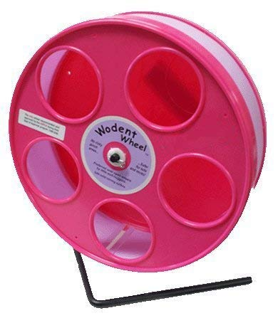Pink-Hamster-Wheel-the-Wodent-Wheel-Jr-8-with-Lavender-Track-0