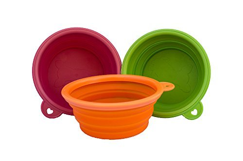 Planet-Petz-Original-Set-of-2-Silicone-ExpandableCollapsible-Travel-Bowls-On-The-Go-Size-14-Oz175-Cups-0