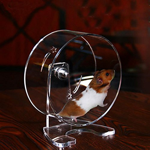 Poetryer-Acrylic-Transparent-Hamster-Small-pet-Running-Wheel-Completely-Waterproof-Pet-Silent-Running-Wheel-Easy-to-Clean-0