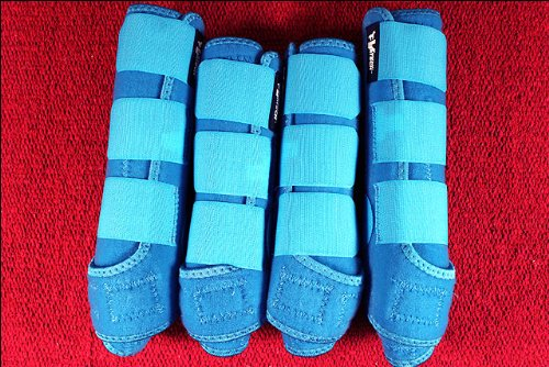Professional-Choice-BLUE-MEDIUM-SPORTS-MEDICINE-HORSE-BOOTS-BELL-VENTECH-ELITE-0-2