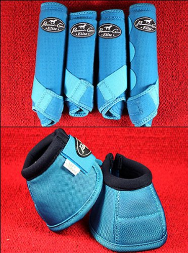 Professional-Choice-BLUE-MEDIUM-SPORTS-MEDICINE-HORSE-BOOTS-BELL-VENTECH-ELITE-0