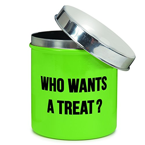Proselect-Chitchat-Stainless-Steel-Dog-Treat-Canister-Green-40-oz-0-0