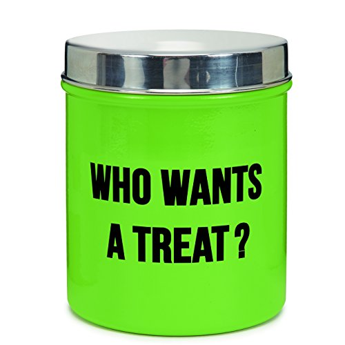 Proselect-Chitchat-Stainless-Steel-Dog-Treat-Canister-Green-40-oz-0
