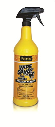 Pyranha-Wipe-N-Spray-Fly-Protection-Spray-for-Horses-Citronella-Scented-Provides-Fly-Protection-and-Imparts-a-High-Shine-to-Horses-Hair-Kills-Repels-and-Conditions-Pack-of-3-0-0