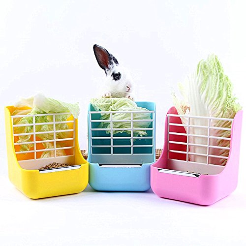 Rabbit-Feeders-Hay-Food-Bin-Feeder-Grass-and-Food-Double-Use-rabbit-FeederHay-Feeders-Supply-for-Rabbit-Guinea-Pig-Chinchilla-0