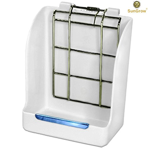 Rabbit-Hay-Feeder-Rack-Mess-Free-Food-Dispenser-Guarantees-Clean-and-Dry-Hay-Alfalfa-and-Other-Grasses-Also-Ideal-for-Guinea-Pigs-Chinchillas-Hamsters-Attaches-to-Any-cage-Conveniently-0-0