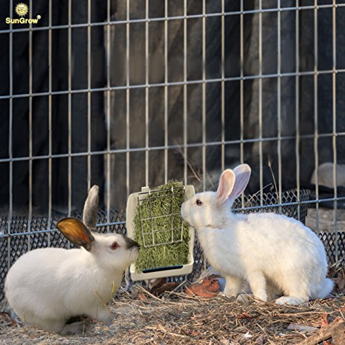 Rabbit-Hay-Feeder-Rack-Mess-Free-Food-Dispenser-Guarantees-Clean-and-Dry-Hay-Alfalfa-and-Other-Grasses-Also-Ideal-for-Guinea-Pigs-Chinchillas-Hamsters-Attaches-to-Any-cage-Conveniently-0-1