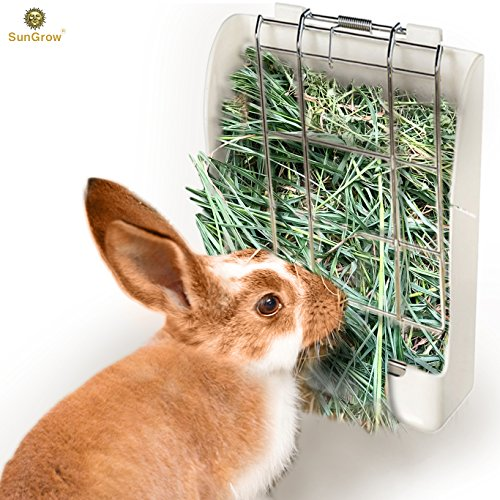 Rabbit-Hay-Feeder-Rack-Mess-Free-Food-Dispenser-Guarantees-Clean-and-Dry-Hay-Alfalfa-and-Other-Grasses-Also-Ideal-for-Guinea-Pigs-Chinchillas-Hamsters-Attaches-to-Any-cage-Conveniently-0