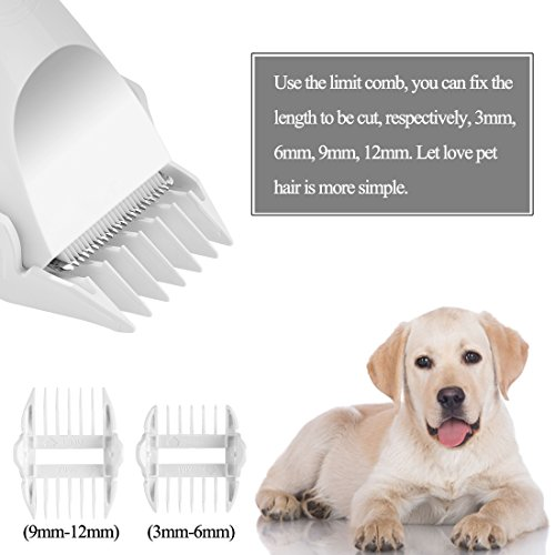 Razoo-Pet-Hair-Clippers-Professional-Dog-Grooming-Tools-Quite-Pets-Trimmer-Kit-White-Color-0-1