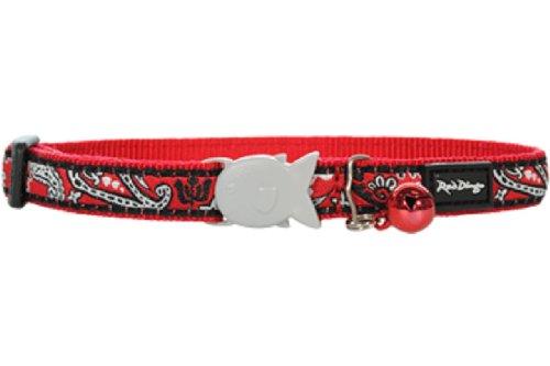 Red-Dingo-Designer-Cat-Collar-Bandana-Red-0
