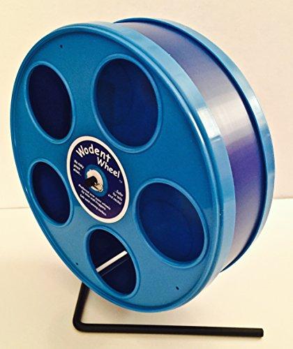 SMALL-ANIMAL-8-JR-WODENT-WHEEL-DK-BLUE-W-BLUE-PANELS-0