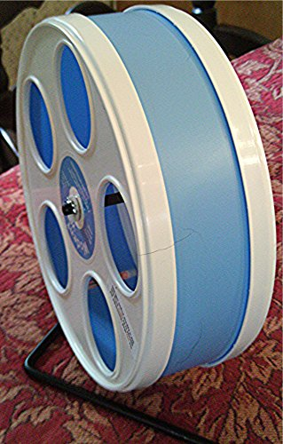 SUGAR-GLIDERHAMSTER-8-WODENT-WHEEL-ASSEMBLED-IN-LT-BLUE-WHITE-0