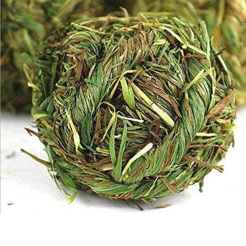 SZBOYU-Natural-Woven-Timothy-Grass-Ball-Small-Pets-Chew-Toy-for-Rabbits-Guinea-Pigs-Chinchillas-Hamsters-2-Pack-0-1