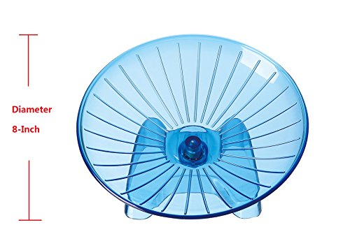 SatisPet-Ultimate-Hamster-Flying-Saucer-Exercise-Wheel-Blue-Durable-ABS-Plastic-Running-Spinning-Wheel-for-Gerbils-Squirrels-Mice-0-0