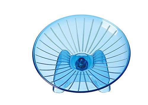 SatisPet-Ultimate-Hamster-Flying-Saucer-Exercise-Wheel-Blue-Durable-ABS-Plastic-Running-Spinning-Wheel-for-Gerbils-Squirrels-Mice-0