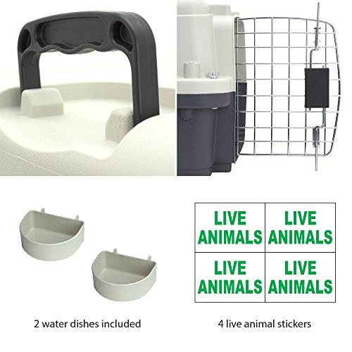 SportPet-Designs-Plastic-Kennels-Rolling-Plastic-Wire-Door-Travel-Dog-Crate-0-2