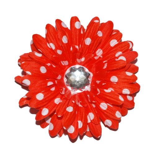 Squishy-Pet-Products-Sprinkles-Collar-Accessories-My-Pretty-Coral-Dot-4-Inch-CoralWhite-Dot-Gerber-Daisy-0
