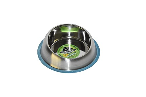 Stellar-Bowls-Accented-Raised-Non-Tip-Anti-Skid-Dish-with-100-Silicon-Bonded-Rubber-Ring-Medium-0