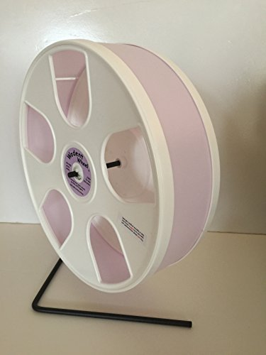 Sugar-GliderHamsterMouse-8-Diameter-Exercise-Wheel-W-Stand-Lavender-White-Panels-0
