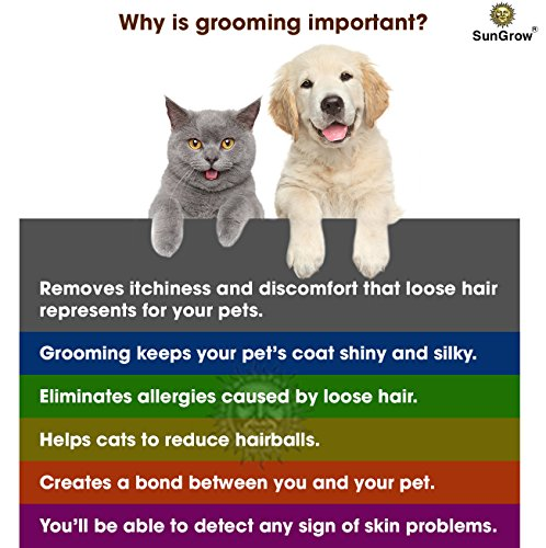 SunGrow-Deshedding-Brush-Vet-Approved-Grooming-Tool-Pet-Safe-Stainless-Steel-Blades-3-Minutes-to-Groom-self-Clean-Small-Medium-and-Large-pet-Proven-to-Reduce-Hair-Shedding-by-90-0-1