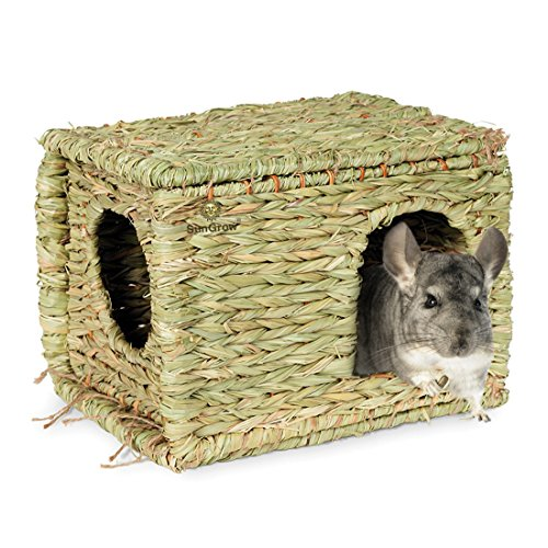 SunGrow-Folding-Woven-Grass-House-for-Rabbits-Guinea-Pigs-Bunnies-Provides-Comfort-Warmth-Security-by-Satisfying-Natural-Instincts-Multi-Utility-Edible-Non-Toxic-Chew-Toy-for-Small-Animals-0-2