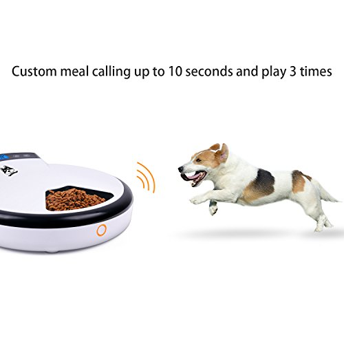 TDYNASTY-DESIGN-Automatic-Pet-Feeder-Cat-Feeder-for-Dogs-Cats-Dry-Food-5-Meals-5-x-240ml-0-2