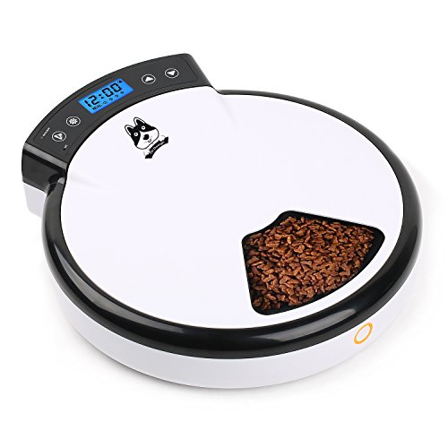 TDYNASTY-DESIGN-Automatic-Pet-Feeder-Cat-Feeder-for-Dogs-Cats-Dry-Food-5-Meals-5-x-240ml-0