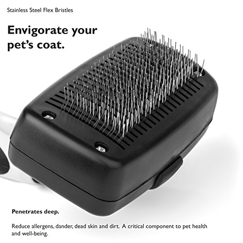 The-Self-Cleaning-Slicker-Brush-For-Small-Dogs-and-Cats-Safely-Removes-Dirt-Dander-Tangles-and-Knots-Professional-Grooming-Tool-Recommended-for-Small-to-Medium-Pets-By-Cooper-Chloe-0-2