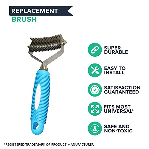 Think-Crucial-Dog-Cat-Grooming-Undercoat-Rake-20-Teeth-Wide-Stainless-Steel-0-0