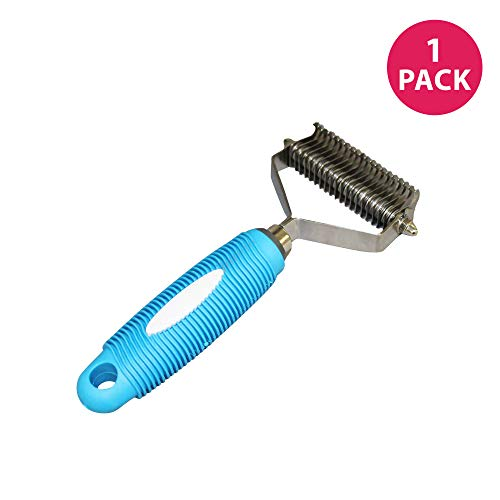 Think-Crucial-Dog-Cat-Grooming-Undercoat-Rake-20-Teeth-Wide-Stainless-Steel-0