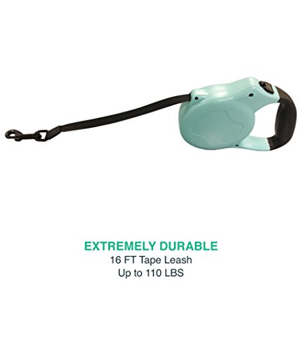 Think-Crucial-Durable-Blue-Retractable-16FT-Tape-Leash-for-Small-to-Large-Dogs-up-to-110LBS-0-0