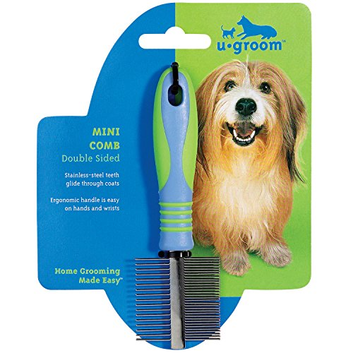 UGroom-Stainless-Steel-Pet-Mini-Comb-Fine-and-Coarse-7-12-Inch-0