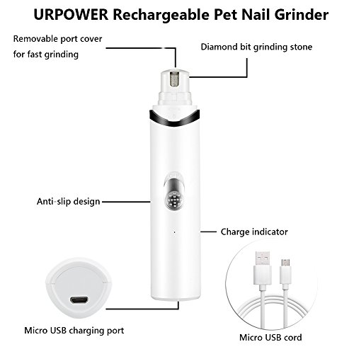 URPOWER-Rechargeable-Pet-Nail-Grinder-Upgraded-Dog-Nail-Grinder-with-USB-Charging-Quite-Powerful-Nail-Clipper-for-Gentle-Paws-Grooming-Nail-Grinder-for-Dogs-Cats-and-Other-Small-Medium-Pets-0-0