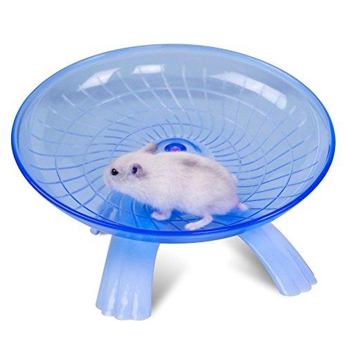 Wildgirl-Small-Pet-Hamster-Flying-Saucer-Exercise-Wheel-Jogging-Running-Silent-Spinner-0