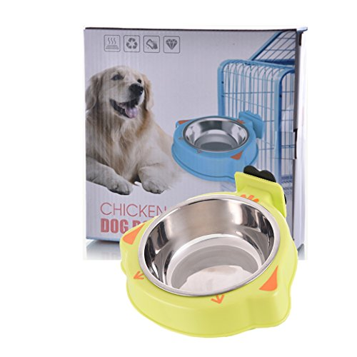 YOURKEY-Pet-Stainless-Steel-Bowl-Dog-Kennel-Cage-Bowl-0-1