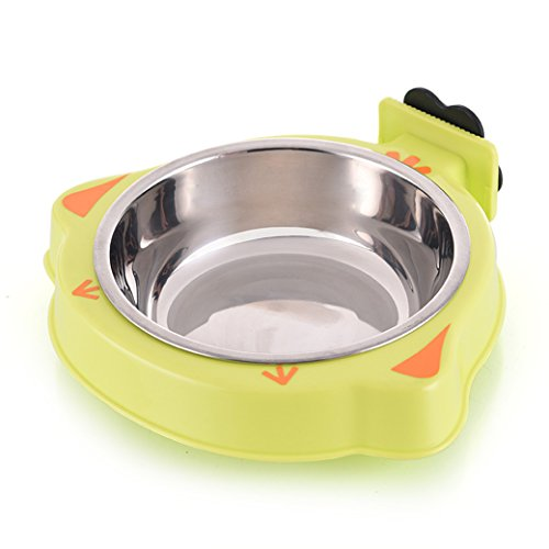 YOURKEY-Pet-Stainless-Steel-Bowl-Dog-Kennel-Cage-Bowl-0