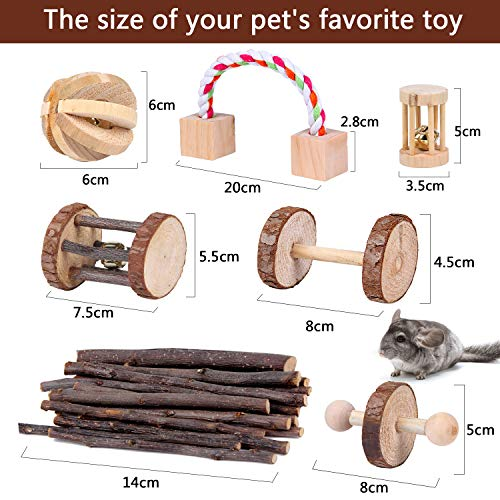 YOUTH-UNION-7-Pack-Wooden-Hamster-Chew-Toys-for-Pets-Teeth-Care-Rabbits-Rat-Small-Animal-Ball-Exercise-Playing-Bell-Roller-Pig-Toys-0-0