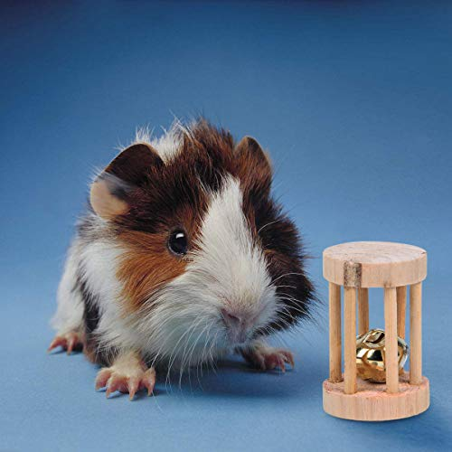 YOUTH-UNION-7-Pack-Wooden-Hamster-Chew-Toys-for-Pets-Teeth-Care-Rabbits-Rat-Small-Animal-Ball-Exercise-Playing-Bell-Roller-Pig-Toys-0-2