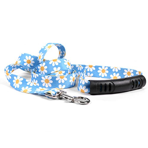 Yellow-Dog-Design-Blue-Daisy-Ez-Grip-Dog-Leash-With-Comfort-Handle-0