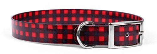 Yellow-Dog-Design-Buffalo-Plaid-Red-Elements-Dog-Collar-0