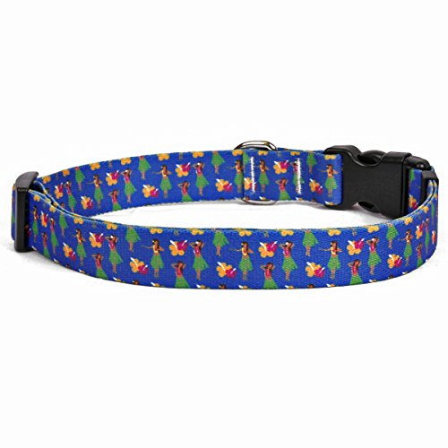 Yellow-Dog-Design-Hula-Girls-Dog-Collar-34-Wide-And-0